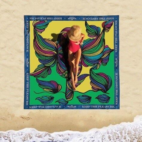 Magnum traz arte em forma de toalhas e reforça importância do distanciamento social