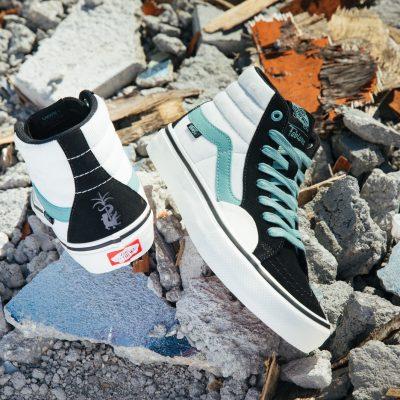 A primeira coleção colaborativa da skatista com a Vans foi inspirada no estado norte-americano da Flórida e em seu estilo de skate fluido