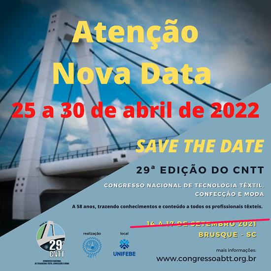 Nova data para o 29º CNTT